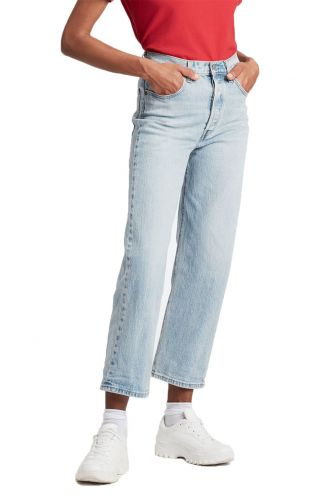 Levi's® Ribcage straight ankle jeans tango light