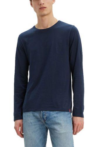 Levi's® Long sleeve slim fit crew neck tee blue