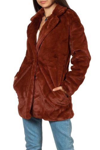 Rut and Circle Tyra faux fur coat rust