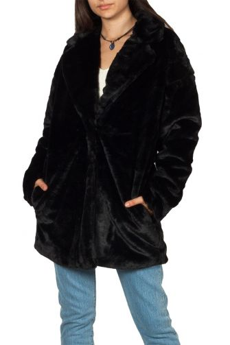 Rut and Circle Tyra faux fur coat black