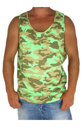 Humor men's tank top Capone fluo green
