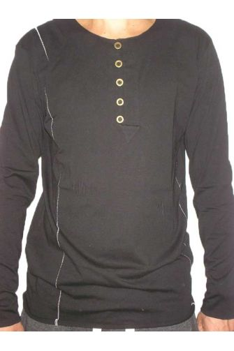 TAG men's long sleeve top with button down neck