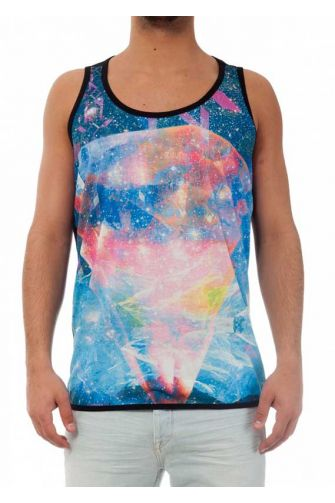 Minimarket del Riciclo tank top with diamond universe print
