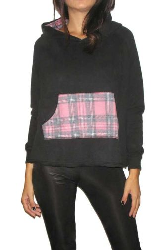 Bigbong women's oversized hoodie in black