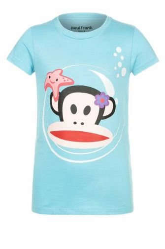 Paul Frank T-shirt bubble in topaz blue for girls