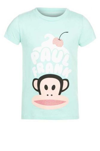 Paul Frank T-shirt crean and cherry aqua for girls