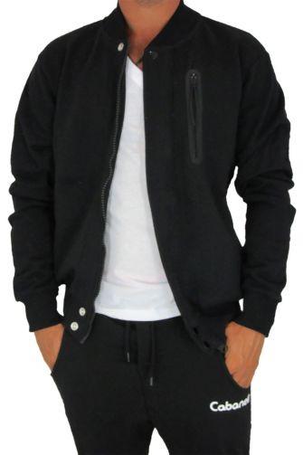 Cabaneli sweat jacket black