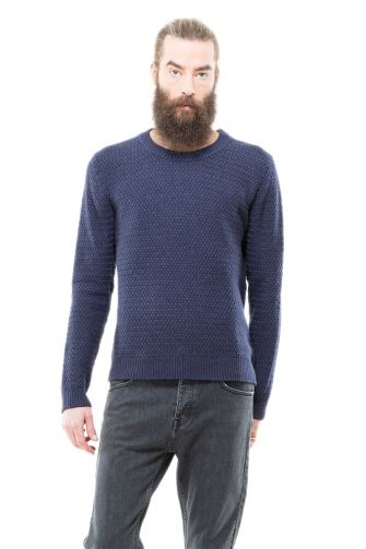 Dr Denim ανδρικό πουλόβερ Weave μπλε μελανζέ