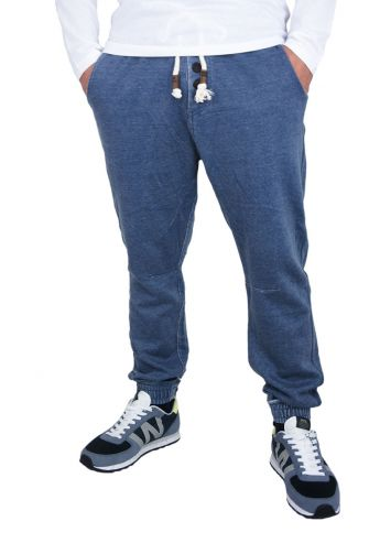 Men's stone washed sweatpants in blue