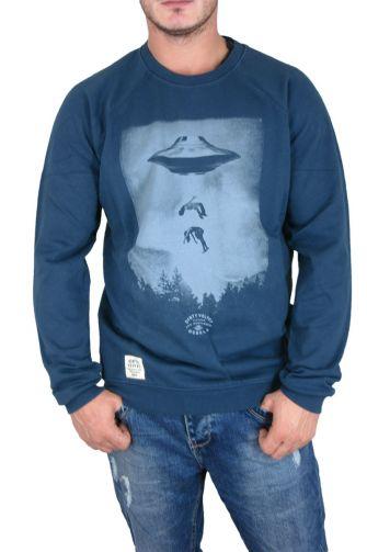 Dirty Velvet ανδρική φούτερ μπλούζα Ufo μπλε