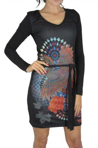 Smash long sleeve dress Glower in black