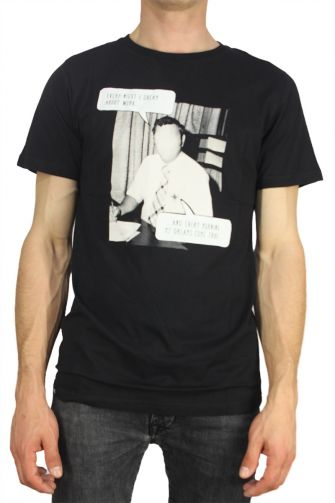 Dedicated ανδρικό t-shirt forever working μαύρο
