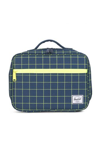 Herschel Supply Co. Pop Quiz lunch navy grid/neon lime