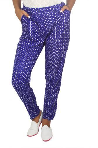 Paramita Eros geometric print παντελόνι μπλε