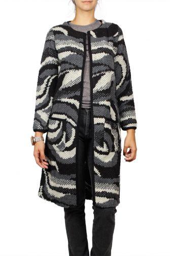 Agel Knitwear longline boucle cardigan