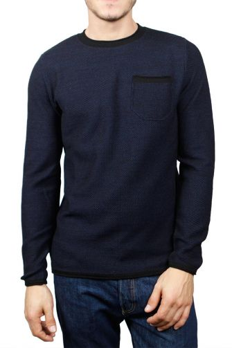 3PLAY men's sweater marl black-blue