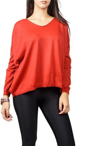 Agel Knitwear loose fit sweater red