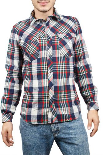 Men's multi check flannel shirt