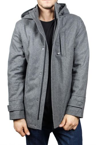 Dissident Ilker men's hooded coat grey