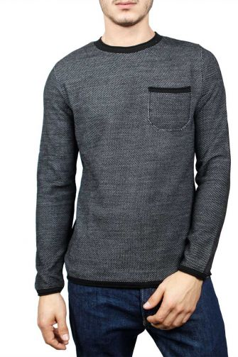 3PLAY men's sweater marl black-grey
