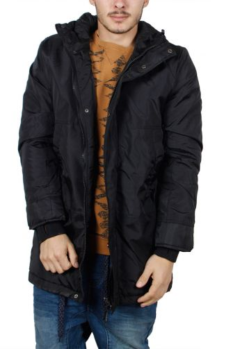 Men's waterproof hooded parka black