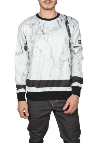 Cabaneli marble print sweatshirt