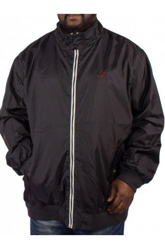Big size Kangol Aldan lightweight waterproof jacket black