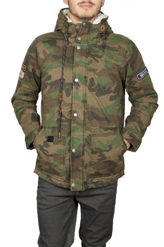 Uniplay men's camo parka khaki with hood