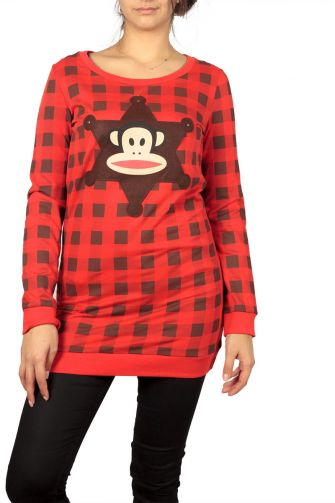 Paul Frank sweat dress red with Julius patch