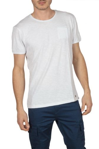 Superior Vintage T-shirt λευκό με τσεπάκι