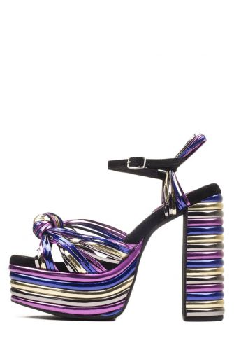 Jeffrey Campbell heeled sandals Andrea-HI with knot