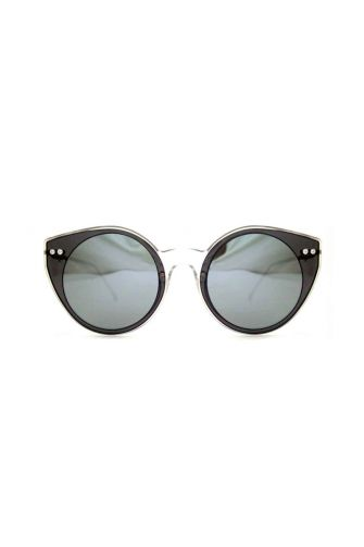 Spitfire sunglasses Alpha select double lens clear/black & silver mirror