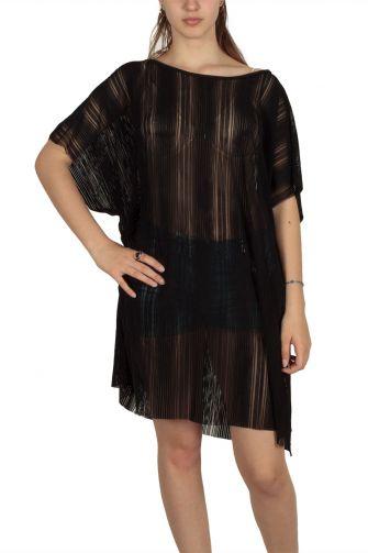 Lotus Eaters Rosario sheer tunic dress black