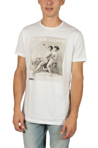 French Kick men's t-shirt Diablesses white