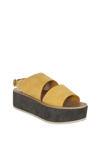 Arpyes Iris leather platform sandals yellow