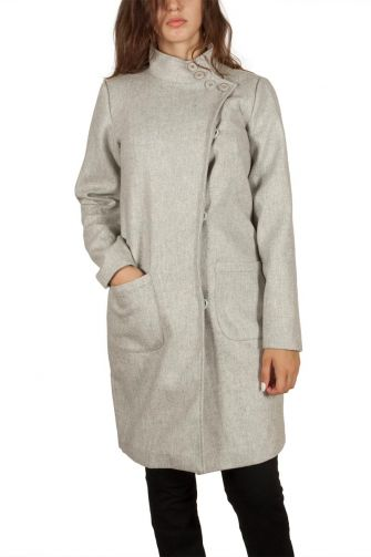 Soft Rebels Lucky short coat light grey marl