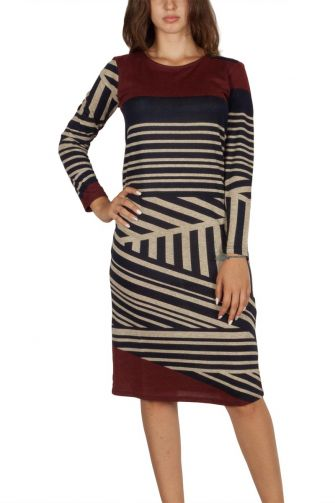 Soft Rebels Ronoy knitted dress navy-ecru