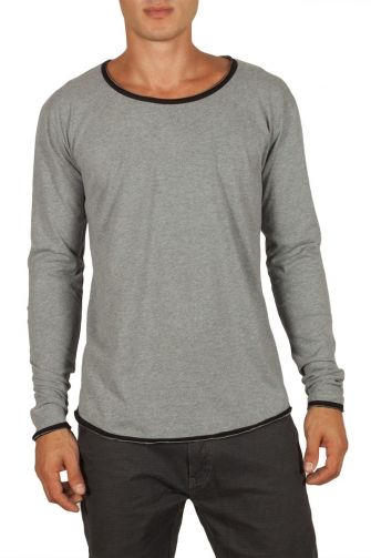 Men's long sleeve tee grey melange