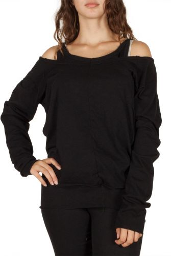 Double layer tee black