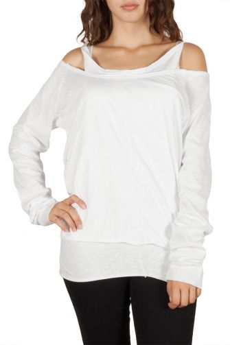 Double layer tee white