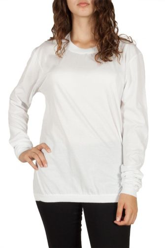 Women's long sleeve tee white