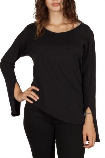 Asymmetrical top black