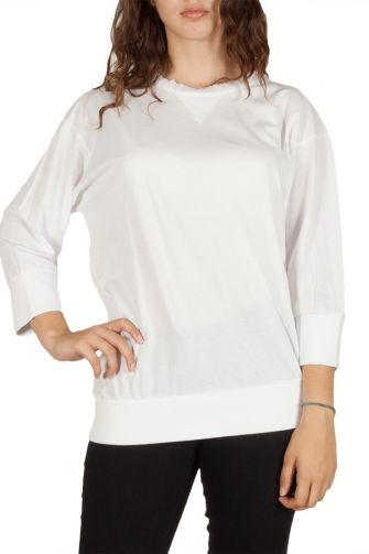 Women's 3/4 sleeve top white
