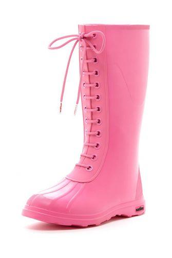 Native Paddington rain boots hollywood pink