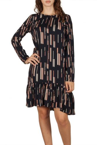 Soft Rebels Ann printed dress navy