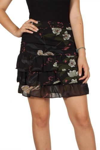 Soft Rebels Even floral skirt navy