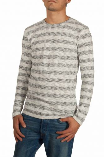 Minimum Agustin slub jumper grey-ecru