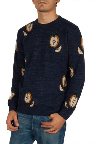 Minimum Moxham jacquard jumper navy melange