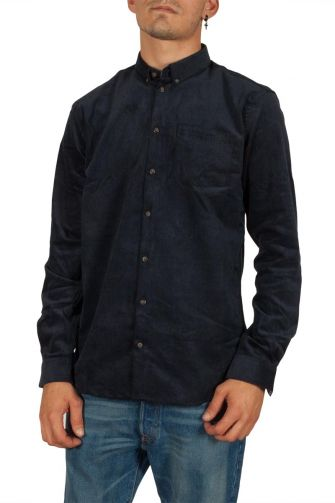 Minimum Pelham cord shirt navy