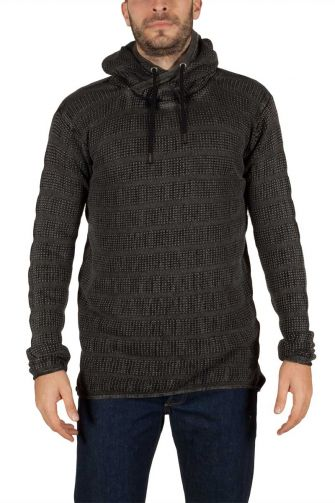 Men's hooded jumper black